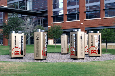 A one-of-a-kind display on the Radio Shack campus in Ft Worth, TX.