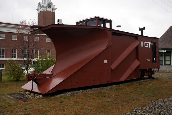 Snow plow on display in Gorham, NH.