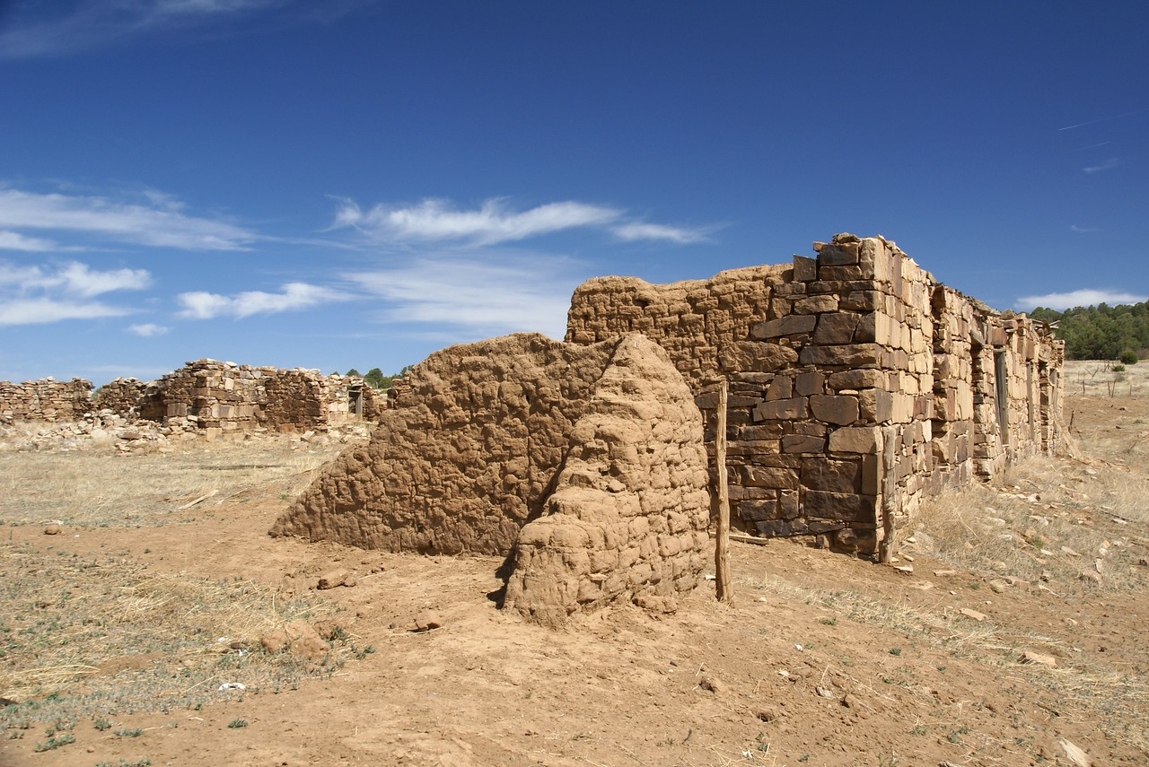 Loma Parda, NM stone and adobe walls